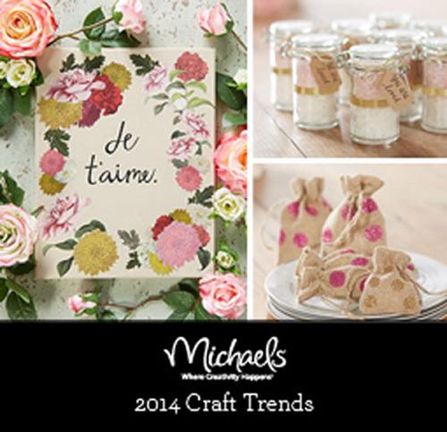 Michaels 2014 Craft Trends.  (PRNewsFoto/Michaels Stores, Inc.)