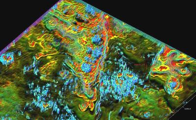 Fracture imaging using Paradigm EarthStudy 360.  (PRNewsFoto/Paradigm)