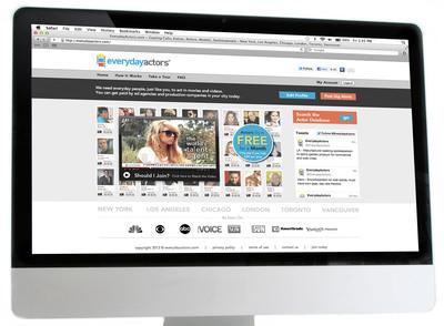 EverydayActors.com links everyday people with video content producers.  (PRNewsFoto/EverydayActors.com)