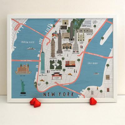 New York map print (2016)Digital Art (Giclee) by Alex Foster