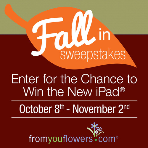 Win an iPad during the Fall In Sweepstakes.  (PRNewsFoto/FromYouFlowers.com)