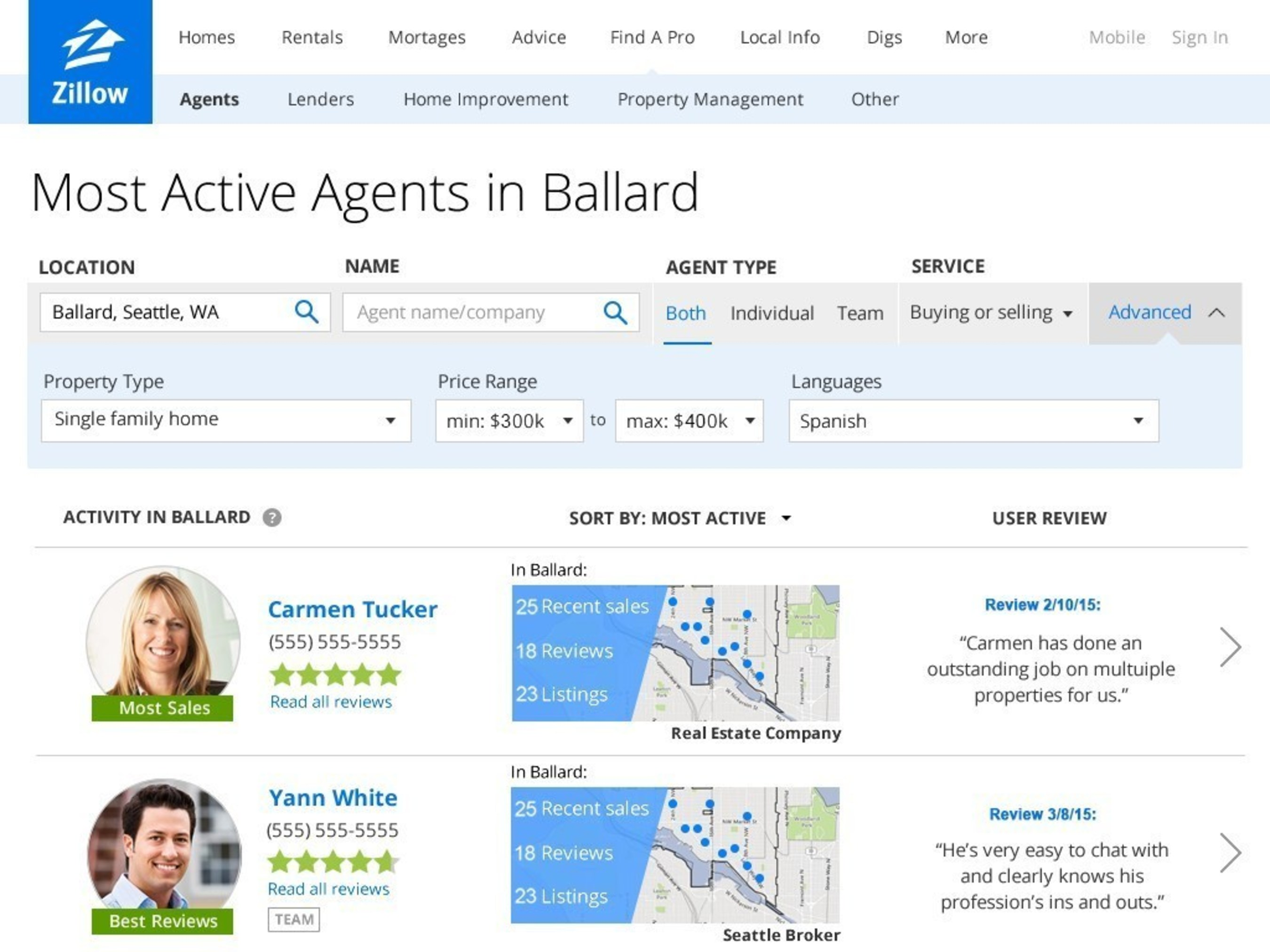 Zillow Launches Agent Finder, New Way for Home Shoppers to Find Most Active, Reputable Agents in Their Desired Neighborhood