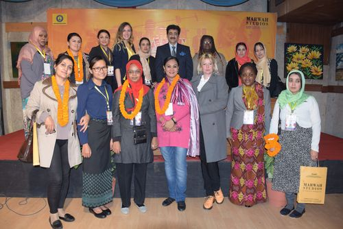 Sandeep Marwah with foreign delegates