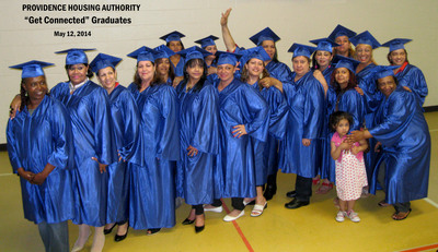 "Providence Housing Authority ""Get Connected"" Graduates (PRNewsFoto/Mobile Beacon)"