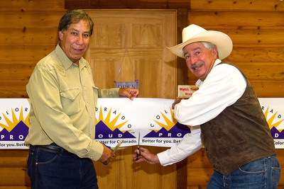 Pictured, left to right, is USDA Under Secretary for Marketing and Regulatory Programs, Edward Avalos and Colorado Commissioner of Agriculture, John Salazar.  (PRNewsFoto/Colorado Proud)