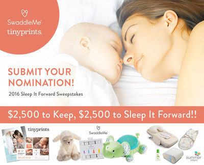 2016 SwaddleMe and Tiny Prints Sleep It Forward Sweepstakes
