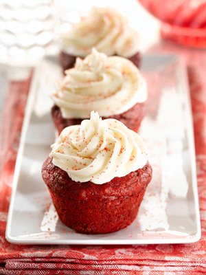 Easiest Ever Red Velvet Cupcakes for your Valentine from Martha White.com.  (PRNewsFoto/Martha White)