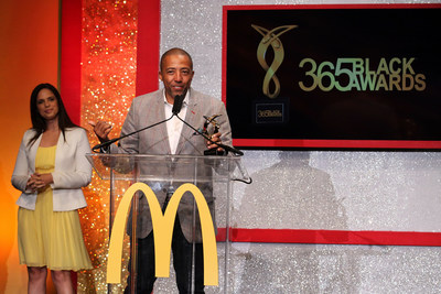 NEW ORLEANS - (July 5, 2014) – Entertainment icon Kevin Liles owned the spotlight after receiving an award presented by national news correspondent Soledad O'Brien at the 11th annual McDonald's 365Black Awards ceremony, held at the New Orleans Theater July 5. McDonald's 365Black Awards are given annually to salute outstanding individuals who are committed to making positive contributions that strengthen the African-American community.