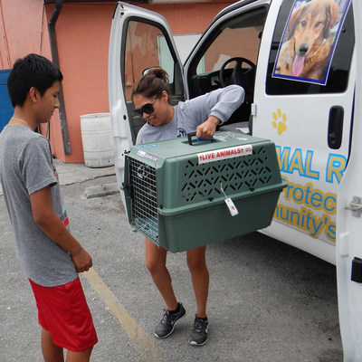 Humane Society of Vero Beach workers return pets to their owners the same day after being spayed or neutered with grant assistance from Florida Animal Friend.