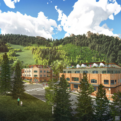 Dancing Bear Aspen Mountainside Building- Summer rendering. (PRNewsFoto/Dancing Bear Aspen) (PRNewsFoto/Dancing Bear Aspen)
