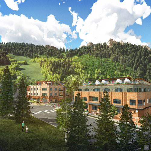 Dancing Bear Aspen Mountainside Building- Summer rendering. (PRNewsFoto/Dancing Bear Aspen) (PRNewsFoto/Dancing  ...