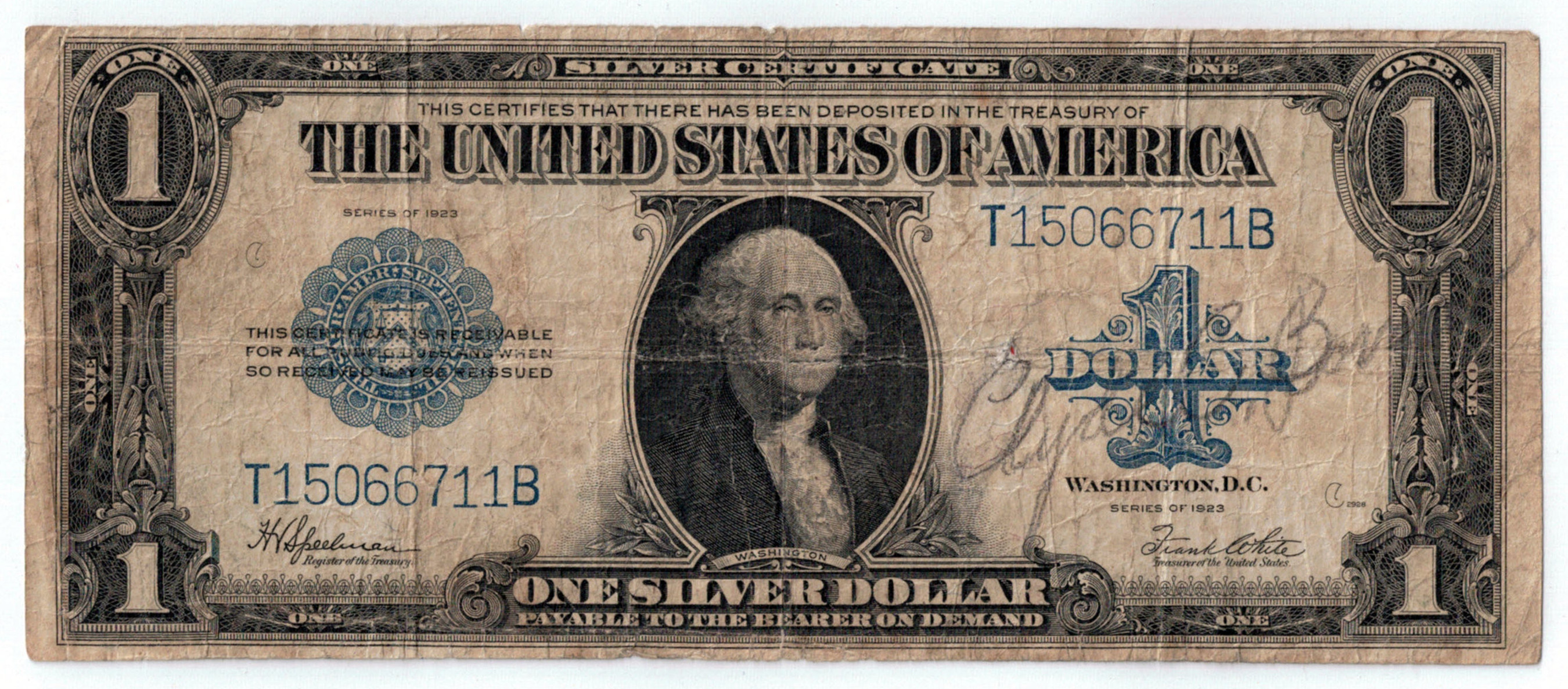 Dollar Bill Signed by the Outlaws Bonnie and Clyde Is Being Sold in an Internet-only Auction Ending March 1st