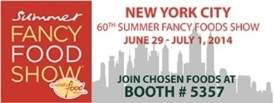 Chosen Foods will be sampling their two new superfood snacks in booth #5357. (PRNewsFoto/Chosen Foods)