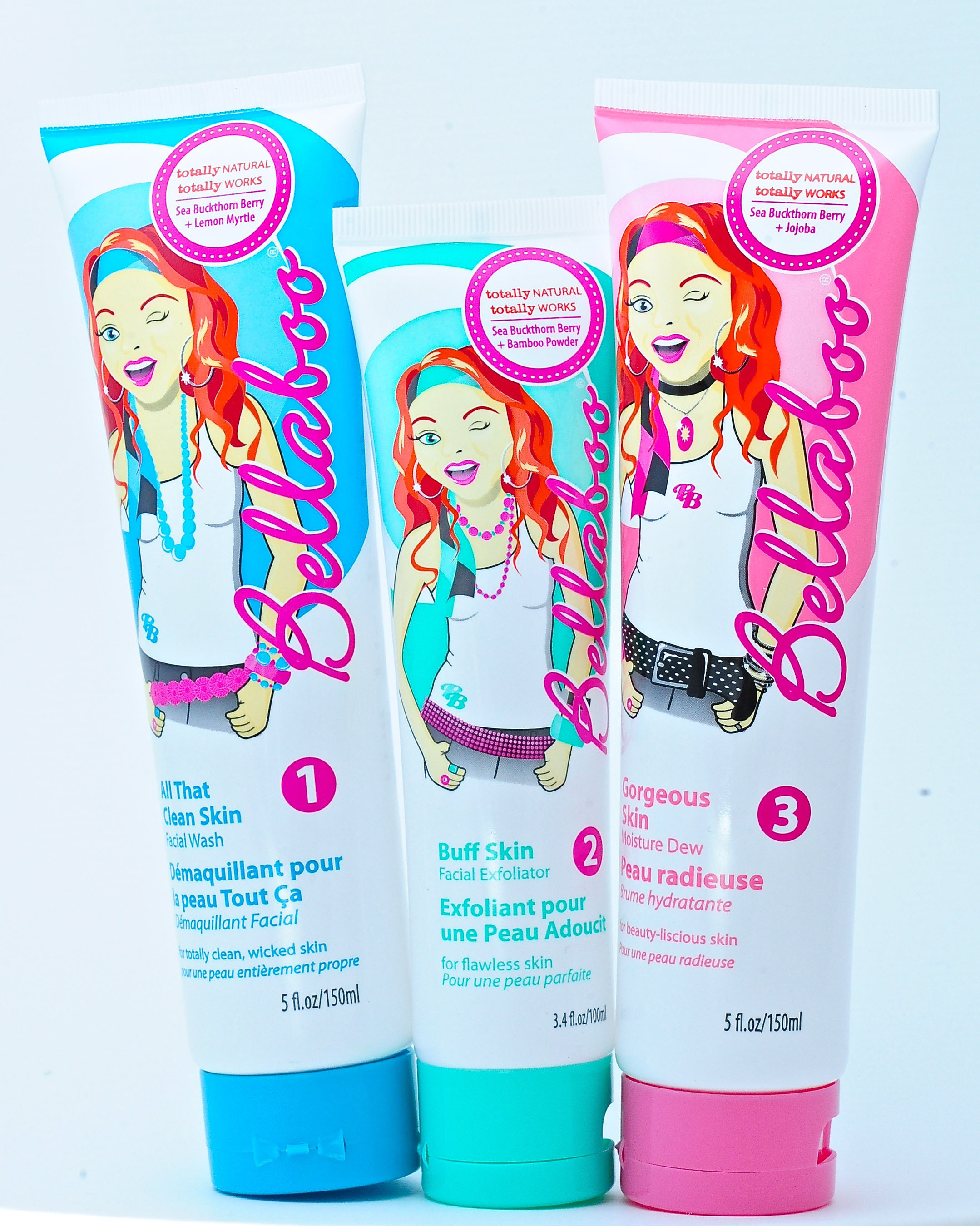 The Bellaboo all natural skin care line for tweens and teens.  (PRNewsFoto/Bellaboo)