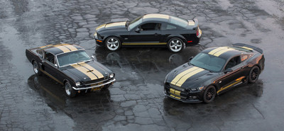 Celebrating 50 years of the Shelby GT-H Rent-A-Racer - the 1966 Shelby GT350-H, the 2006 Shelby GT-H and the 2016 Shelby GT-H.