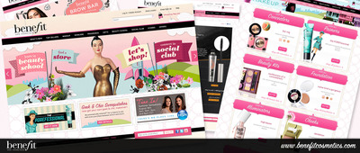Benefit Cosmetics Launches NEW Website Experience!  (PRNewsFoto/Benefit Cosmetics)