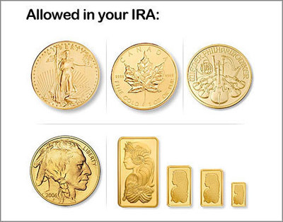 some of the coins allowed in your IRA