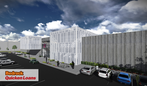 A rendering of the Detroit-based Quicken Loans Technology Center, scheduled to be completed in January 2015. ...