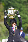 Jessica Springsteen earns first Grand Prix win at the American Gold Cup CSI4*-W in Westchester County (PRNewsFoto/Westchester County Tourism...)