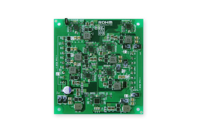 ROHM's power module solution utilizes the BD95601MUV/BD95602MUV power supply ICs, with H3 Reg(TM) technology, ensuring outstanding high-speed responses to meet Xilinx's 7 series FPGAs power tolerance and sequencing guidelines for startup and precise power supply voltage regulations, including eight different power supply voltages from the 12 V input.  (PRNewsFoto/ROHM Semiconductor)
