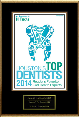 Natalie Harrison, DDS Selected For ''Houston's Top Dentists 2014''