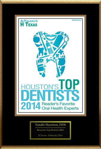 "Natalie Harrison, DDS Selected For ""Houston's Top Dentists 2014"". (PRNewsFoto/American Registry) ..."
