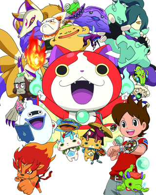 "In the hugely popular Japanese comic and TV show ""YO-Kai Watch,""  a curious ten-year-old boy frees Whisper, a ghost-butler yo-kai, from 190 years of imprisonment.  In gratitude, Whisper pledges to protect the boy from supernatural challenges, and gifts him with a magical tool, which allows the youth to see other yo-kai.  The young boy and Whisper, together with another yo-kai spirit, Jibanyan the twin-tailed cat, engage with some of the yo-kai spirits, in this ongoing comedic adventure."