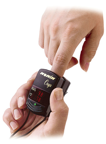 Nonin Medical's Onyx 9500 is the world's first finger pulse oximeter. Nonin donated six units for ...