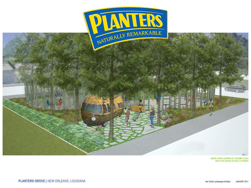 Mr. Peanut Plants Some Good in New Orleans: Opens Urban Park in Central City