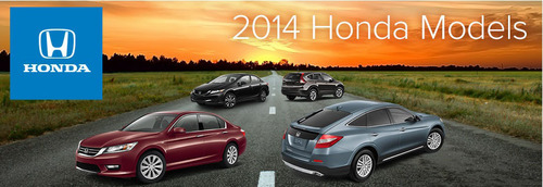 From the Accord to the Ridgeline, the 2014 Honda vehicle lineup provides a glimpse into the new year with advanced technology and eco-friendly features.  (PRNewsFoto/Howdy Honda)