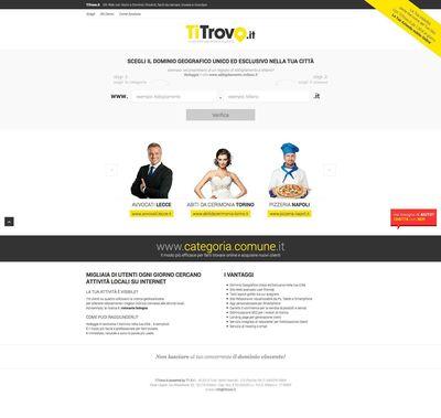 Home page di TiTrovo.it (PRNewsFoto/TiTrovo.it)