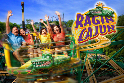Ragin' Cajun will be the park's ninth roller coaster. This fast-track roller coaster twists, turns, tilts, and rotates around a 1,378-foot-long zigzagging track. The unique four-passenger trains spins 360 degrees and zips through breathtaking turns, which are sure to thrill even the most extreme coaster riders.  (PRNewsFoto/Six Flags Entertainment Corporation)