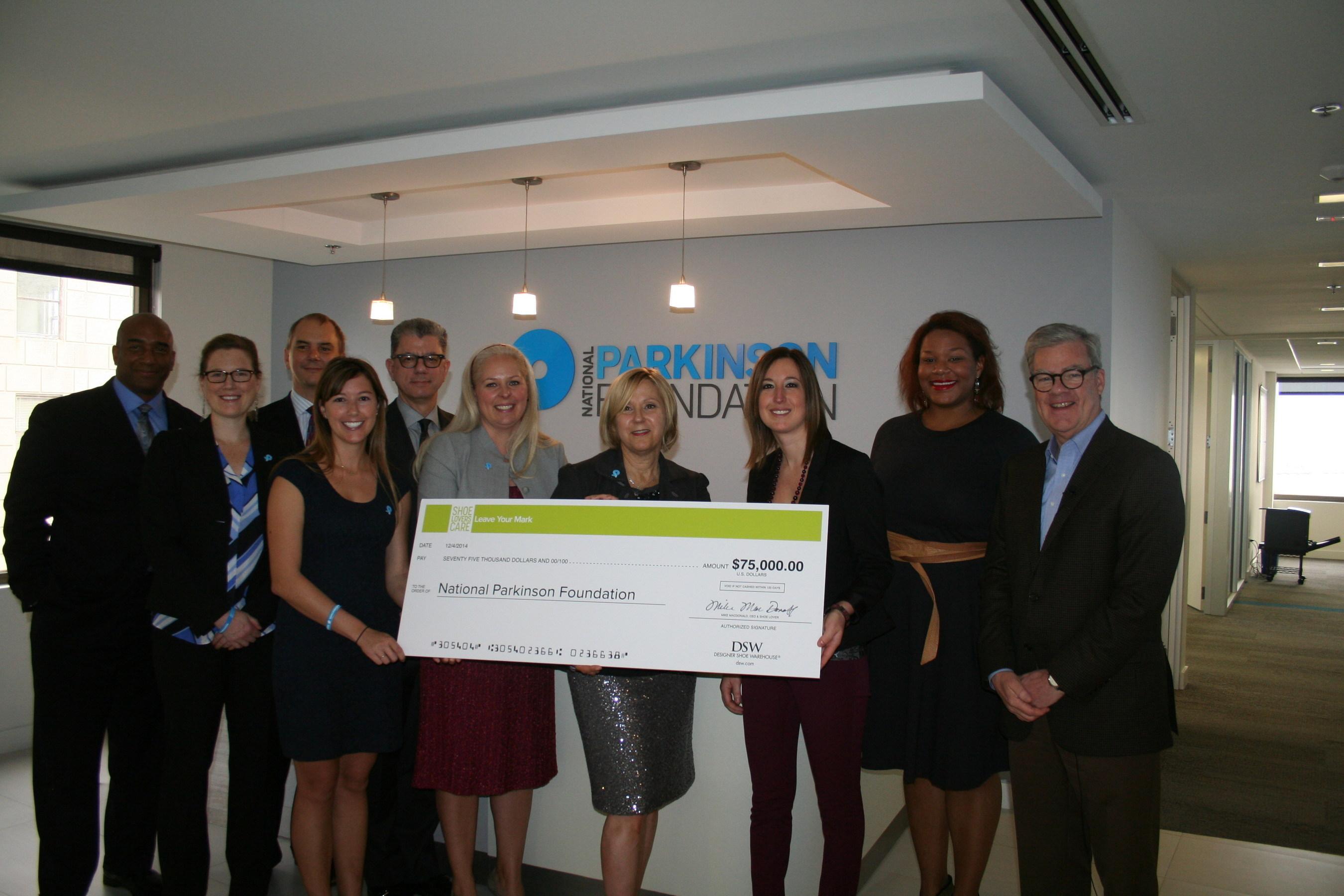Dsw Designer Shoe Warehouse Announces 75 000 Donation To National Parkinson Foundation