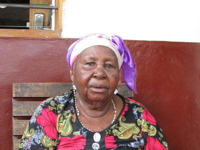 Mary Kabaloli, 83, a long-time resident of Hospice Saint Kizoto in the Democratic Republic of the Congo. The home for abandoned elderly was recently renovated thanks to a $53,000 grant from the Gertler Family Foundation. (PRNewsFoto/Gertler Family Foundation) (PRNewsFoto/GERTLER FAMILY FOUNDATION)