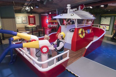 Fireman Sam is one of the most popular children's characters of Mattel. He's got a family attraction of his own at the Mattel Play Liverpool, Albert Dock, England. (PRNewsFoto/Lappset Group)