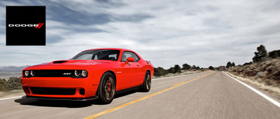 The release of the all-powerful 2015 Challenger SRT Hemi Hellcat looms ahead. (PRNewsFoto/Briggs Dodge)