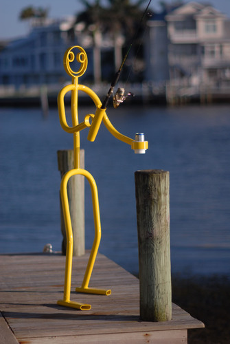 The Tube Dude can be a whimsical dock decoration.  (PRNewsFoto/The Tube Dude)