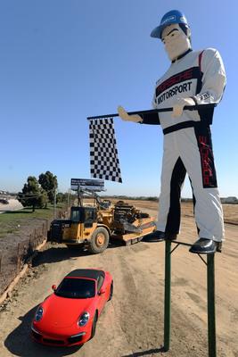 Porsche unveils new look for Muffler Man landmark, site of North America's first Porsche Experience Center