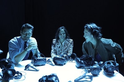 Michelle Rodriguez, Vanness Wu and David Gandy among first to see Jaguar's electric car, the Jaguar IPACE Concept, at pioneering virtual reality reveal (PRNewsFoto/Jaguar Land Rover)