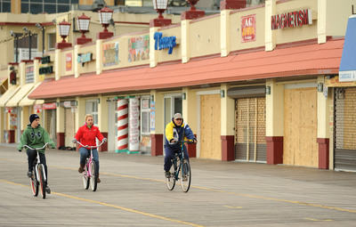 Iconic Atlantic City Boardwalk Undamaged By Hurricane Sandy, Fully Open For Visitors.  (PRNewsFoto/Atlantic City Alliance)