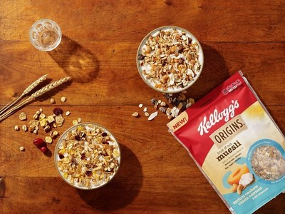 Kellogg's Origins™ Fruit & Nut Muesli: Apricot Cashew Coconut with Almonds
