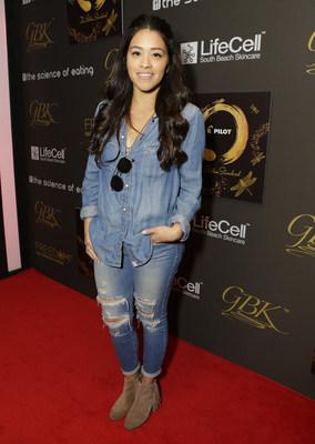 Gina Rodriguez attends GBK & Pilot Pen Golden Globes Luxury Suite