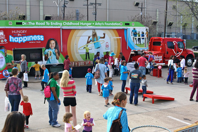 The 18-wheel Arby's Foundation mobile kitchen will stop in 30 U.S. cities this summer to deliver fun activities and games, complimentary Arby's Kids Meals, and education on summer meal programs for families. The truck will visit Arby's restaurants as well as public events to help raise awareness about the issue of childhood hunger and its increased severity during the summer months.