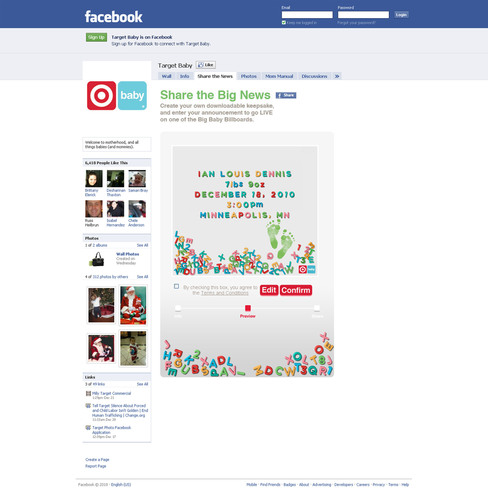 Target Marks the New Year by Offering Parents a Chance to Share Birth Announcements with the World