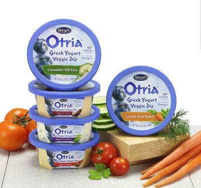 New Otria(TM) Greek Yogurt Veggie Dip from Marzetti(R) offers a delectable way to snack every day.  (PRNewsFoto/T. Marzetti Company)