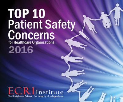 Patient safety is a top priority for every healthcare organization, but knowing where to direct initiatives can be daunting. To help organizations decide where to focus their efforts, ECRI Institute has compiled its third annual list of the Top 10 Patient Safety Concerns for Healthcare Organizations. Download the free executive brief at www.ecri.org/patientsafetytop10.