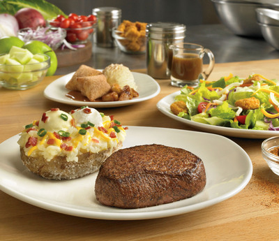 OUTBACK STEAKHOUSE(R) ANNOUNCES THREE COURSES FOR JUST $11.99. New signature meal includes sirloin steak, soup or salad, side and dessert favorites.  (PRNewsFoto/Outback Steakhouse)
