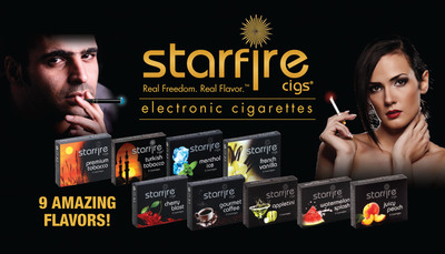 Starfire Cigs Nine Amazing Flavors (PRNewsFoto/Starfire Cigs)