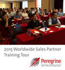 Over 60 sales partners attended Peregrine Semiconductor's regional training in Shanghai, China. This was one of the stops on the Peregrine Semiconductor 2015 Worldwide Sales Partner Training Tour.