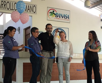 Celebrating the ribbon cutting at the opening of the new birthing center at the Trifinio Center for Human Development in Guatemala.